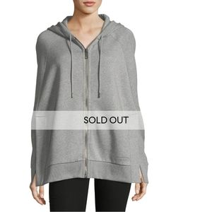 NWT$600 Burberry Hooded Jersey Cape Wrap Poncho